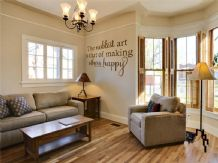 "wall Quote - ""The noblest of arts..."" Wall Art Sticker, Modern Decal, Sticker"